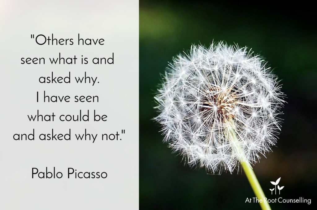 Seeds of Thought: Quotes on Change | At The Root Counselling_Pablo Picasso