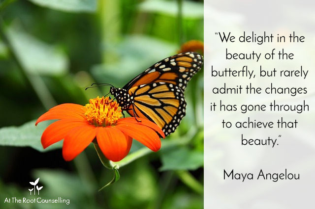 Seeds of Thought: Quotes on Change | At The Root Counselling_Maya Angelou